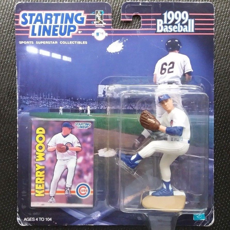 Starting Lineup Kerry Wood Baseball Card &Figure 1999 Chicago Cubs NEW Free Ship