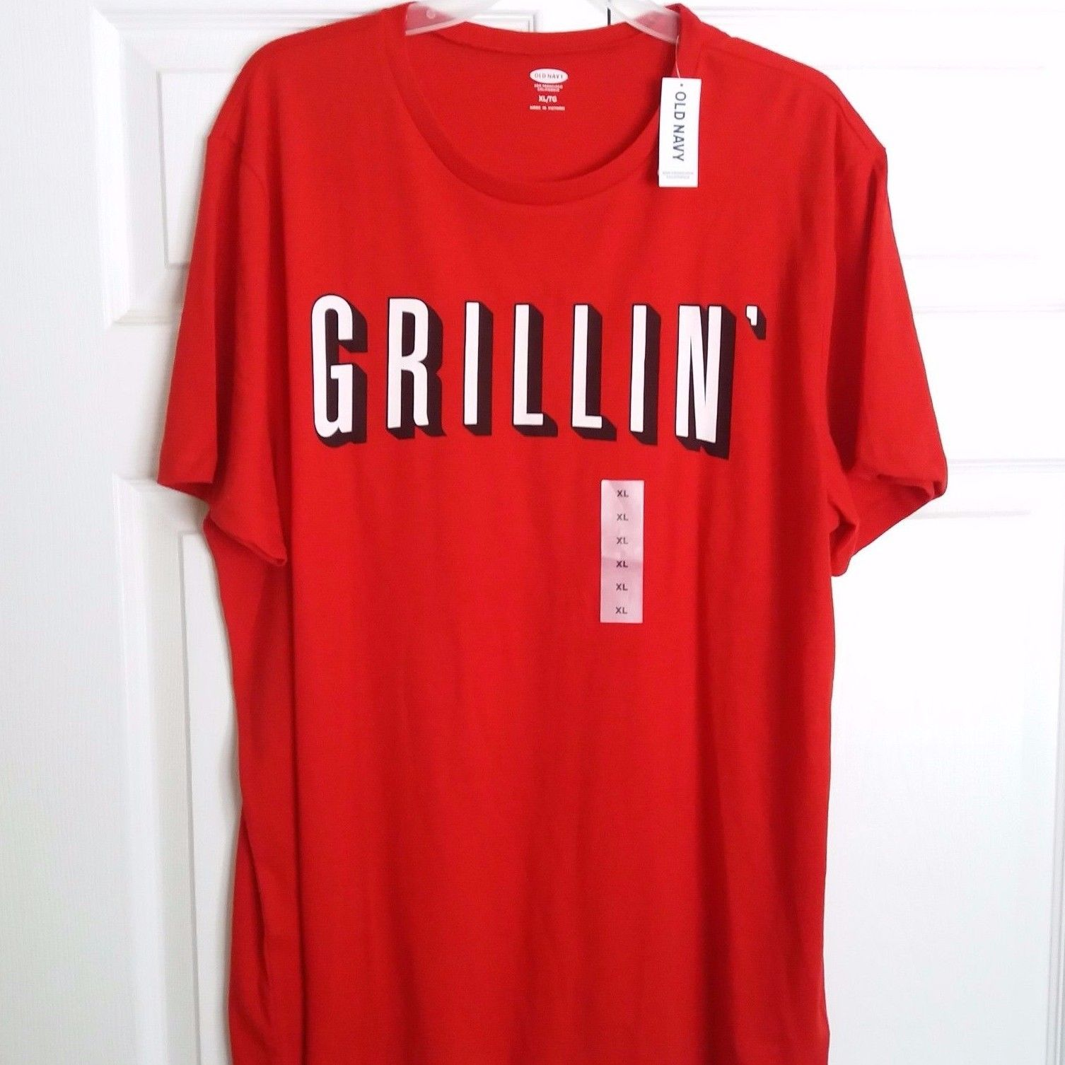 GRILLIN T-Shirt Summer BBQ Tailgate Grilling Barbecue Red Size XL Mens X-Large