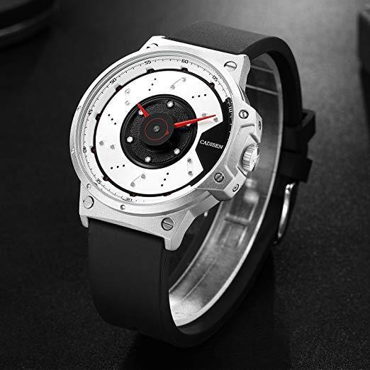 CADISEN C9059 Men Luxury Sport Watch Quartz Gearhead Mechanic Brake Rotor US EDC