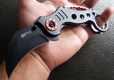 Karambit Pocket Knife Black EDC Legal Carry 2.75