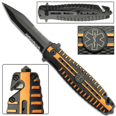 EMT Pocket Knife Spring Assist BEST Tactical Medic Emergency Paramedic GIFT IDEA