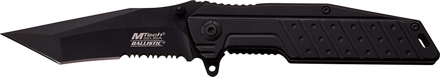 Black Stealth TANTO Blade Framelock EDC Flipper Knife w/ Deep Carry Pocket Clip