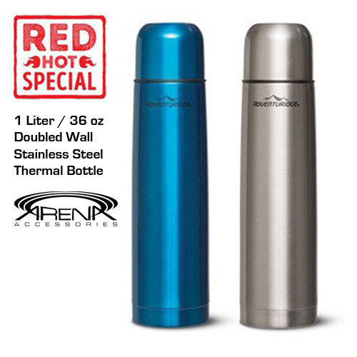 Stainless Steel Vacuum Bottle Double Wall Insulated Thermal Coffee Mug 36oz / 1L