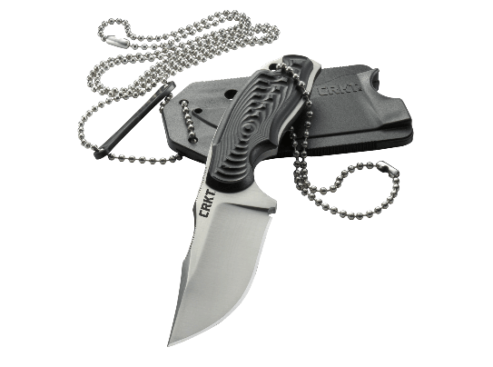 Columbia River CRKT Civet 2805 Fixed Blade Neck Knife w/ Easy Clean Sheath&Chain