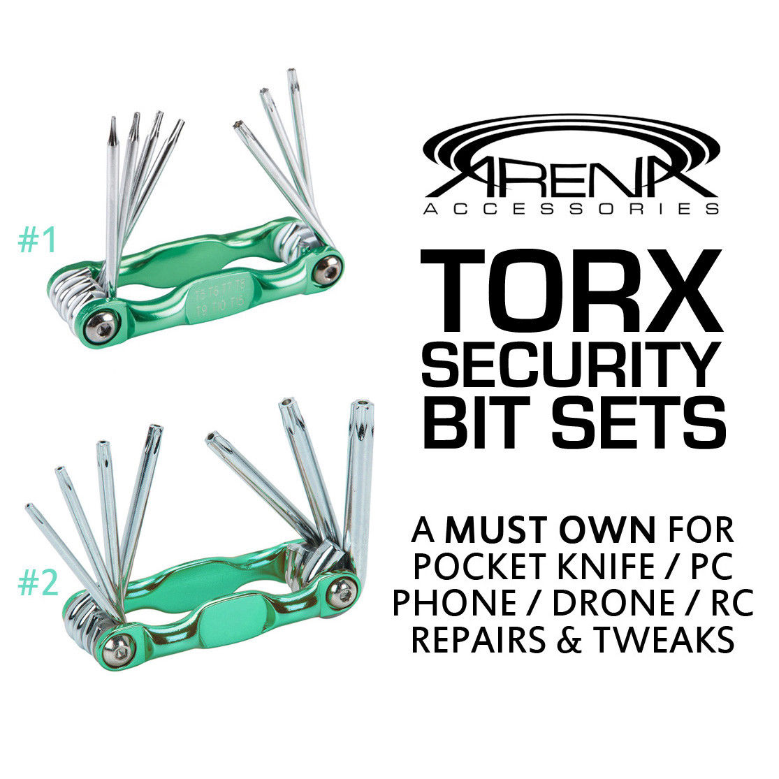TORX Star Hollow Security Bit Hex Key Sets Pocket Knife Drone PC Tune-Up Repair