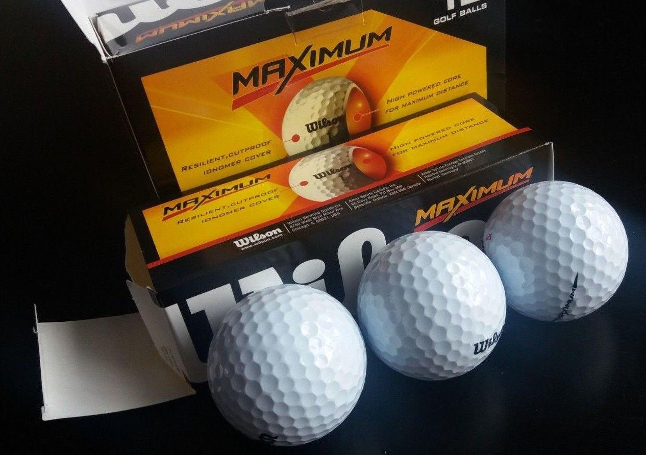 Wilson MAXIMUM 12 Golf Balls Straighter Longer 1 Dozen Size Box Brand NEW