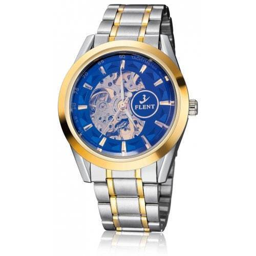 Men's Automatic Mechanical Wrist Watch Self-Winding Hollow Skeletal Luxury FLENT