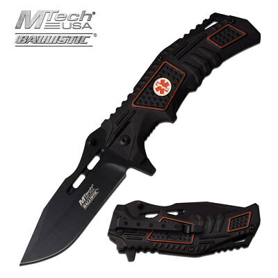 MEDICAL EMT Pocket Knife EMS PARAMEDIC Best GIFT IDEA Spring Assisted Tool Blade