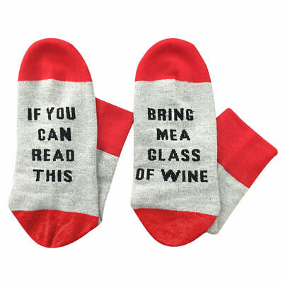 IF YOU CAN READ THIS BRING ME A WINE GLASS Sock Men Women Drinker Gag Gift Funny
