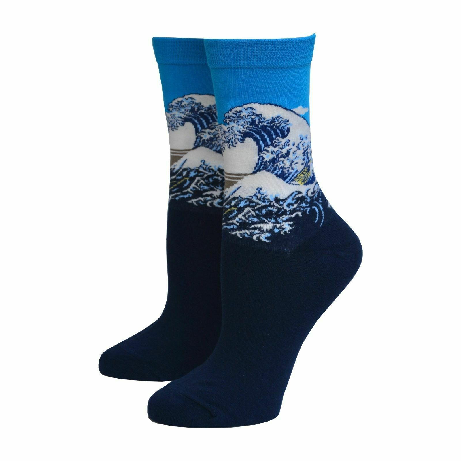 Wave Off Kanagawa Famous Painting Katsushika Hokusai Art Men Women Japan Sock