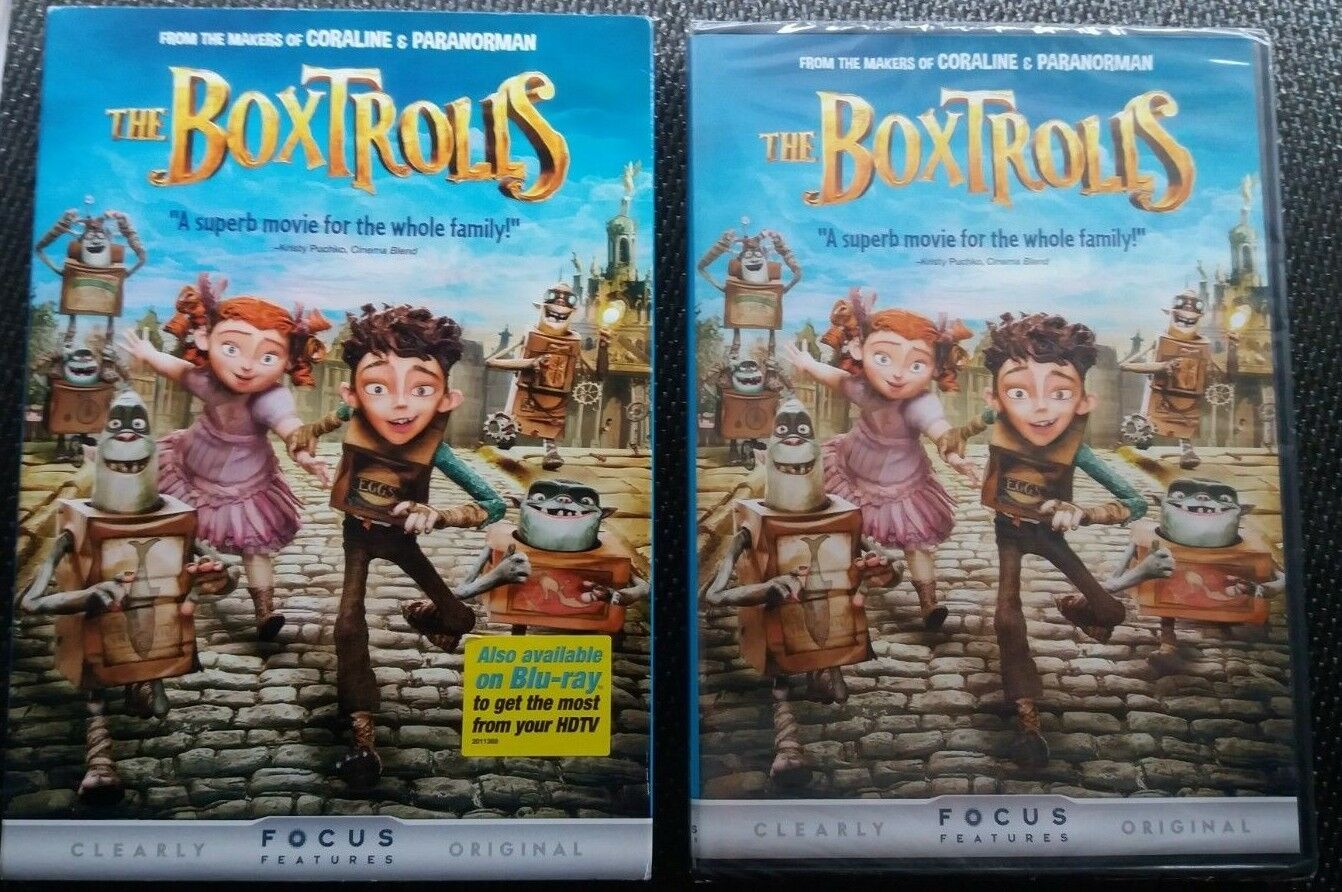 The Boxtrolls (DVD, 2015) NEW ANIMATED