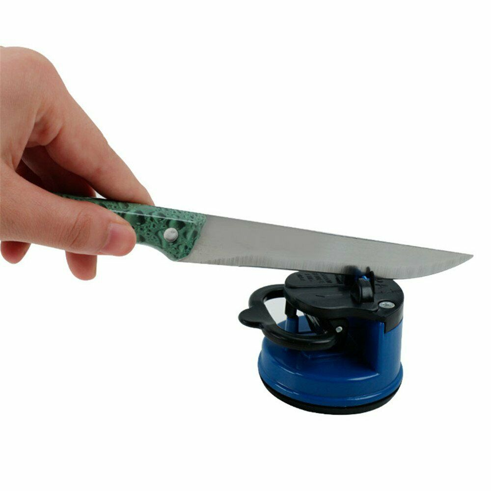 Tungsten Suction Counter Top Kitchen KNIFE SHARPENER Chef Pocket EDC Blade