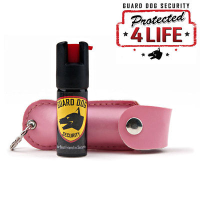 LIFETIME REFILL Pink Pepper Spray Keychain .5 oz OC-18 Women Ladies Self Defense