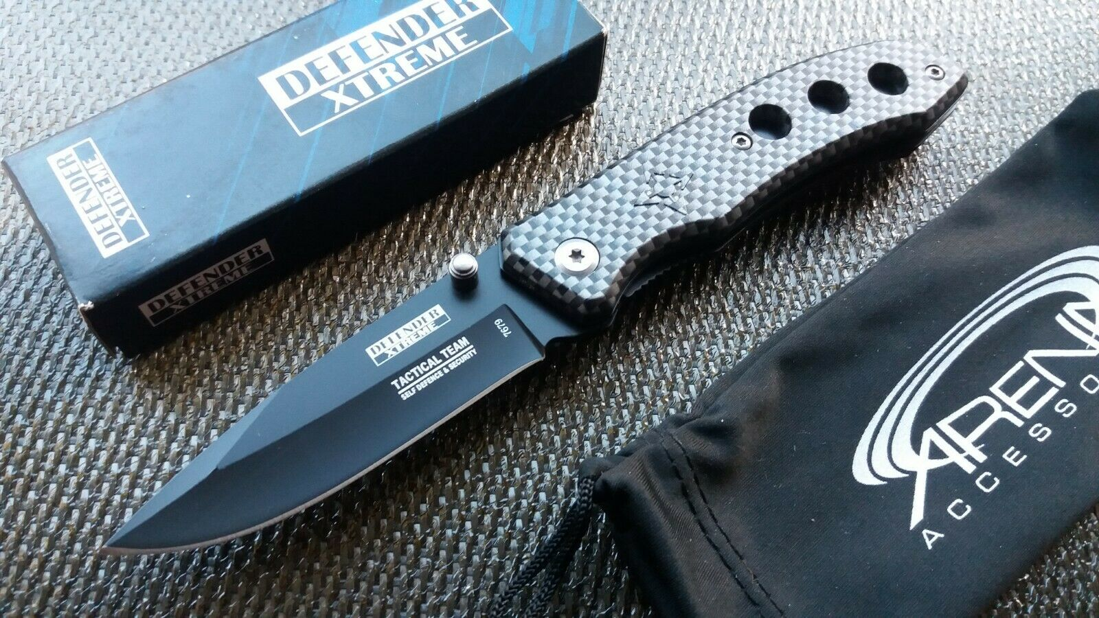 Carbon Fiber Pattern Pocket Knife Spring Assist Small Lightweight EDC 3