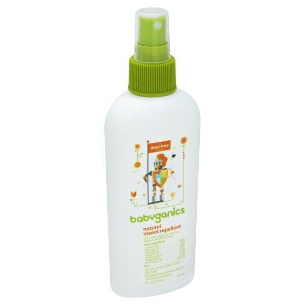 Babyganics Natural Insect Repellent Deet Free 6 fl oz Spray Bottle Expires 2021