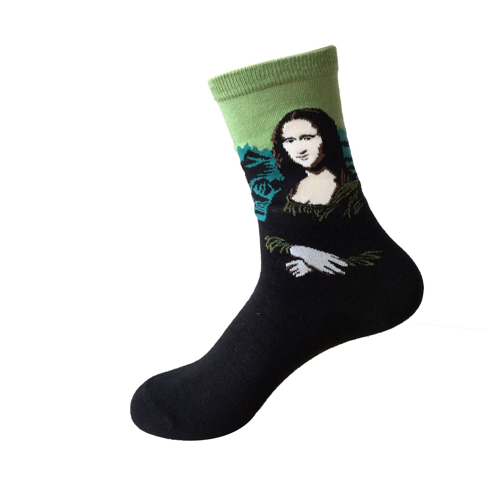 Mona Lisa Painting Sock Art Funny Men Women Gift Novelty Leonardo Da Vinci Funny