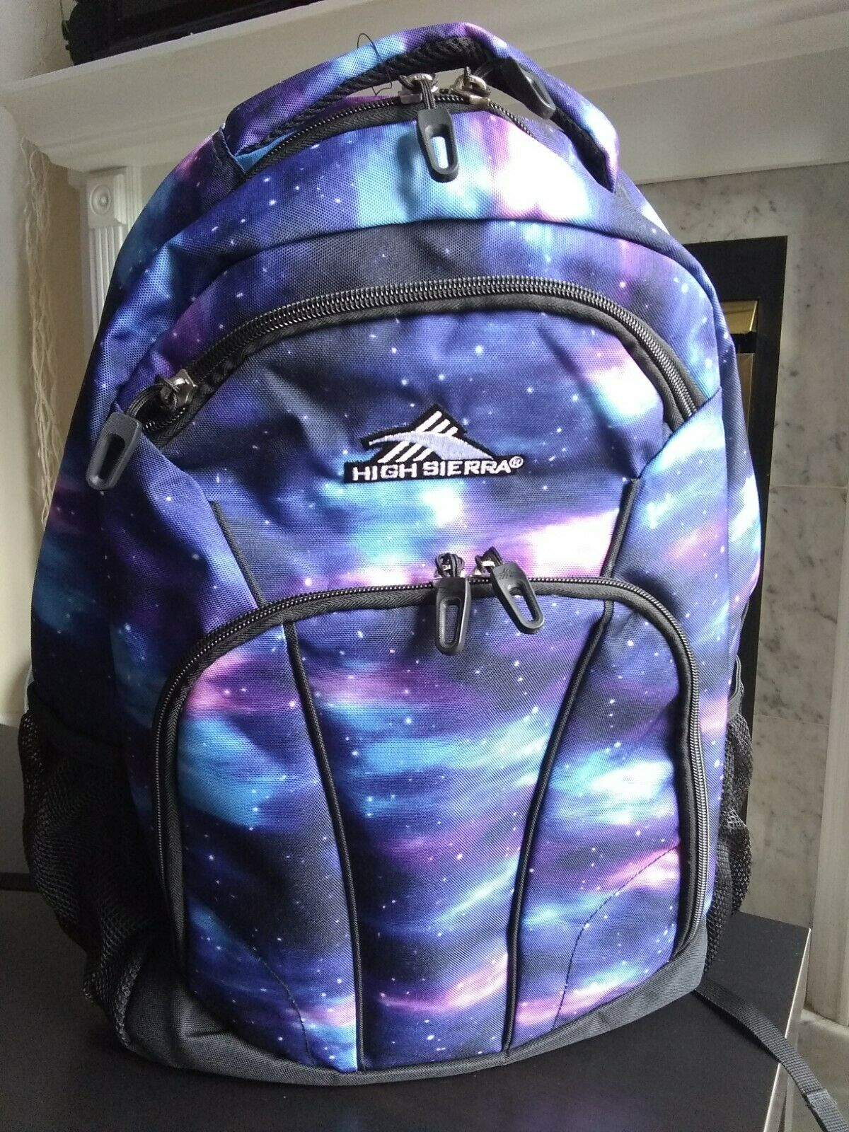 Galaxy Purple Cosmos High Sierra Benson Laptop Computer Backpack School Gym Bag