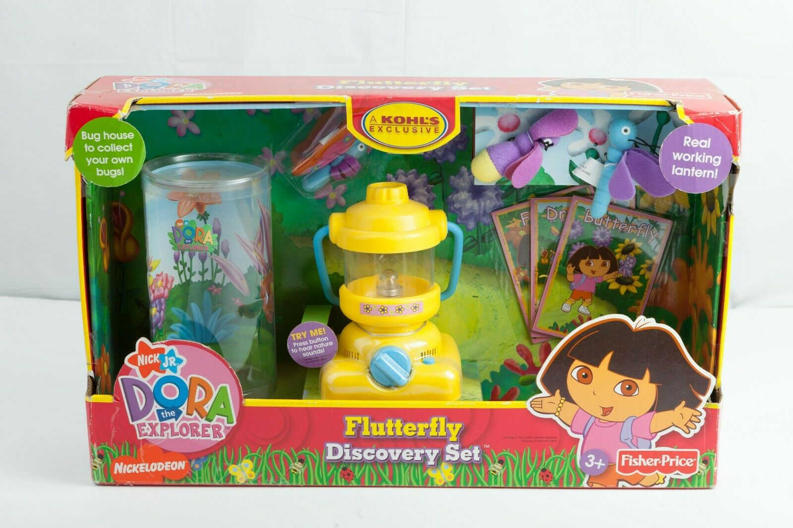 Fisher Price Dora the Explorer Flutterfly Discovery Set Catching Bugs Fireflies