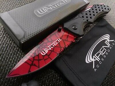 Spider-Man Web Pocket Knife Spring Assisted Aluminum Handle Stainless Blade CSGO