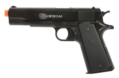 Best All Metal Slide Colt M1911 A1 Spring Airsoft Pistol Gun 328 FPS Anniversary