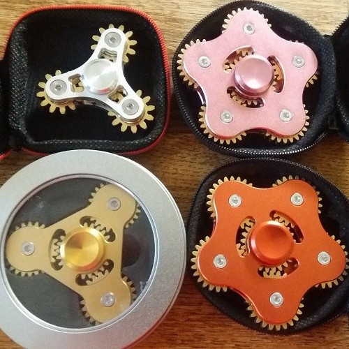 4 Gear Fidget Spinner Bundle LOT 3&5 ADHD ADD OCD Autism Toy US Seller FREE SHIP