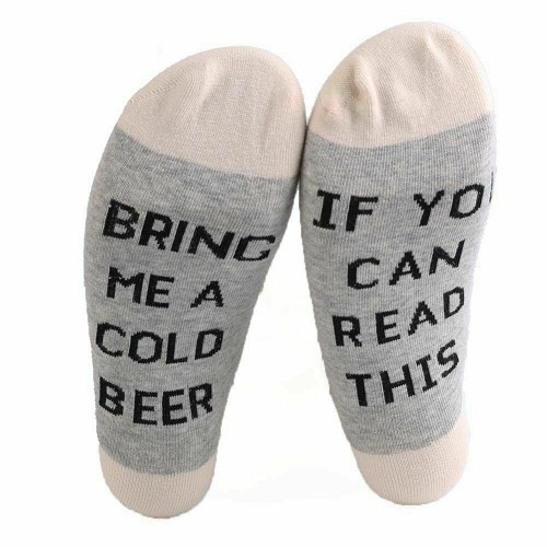 IF YOU CAN READ THIS BRING ME A COLD BEER Short Sock Funny Gag Gift Mens Womens