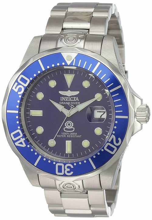 Invicta 3045 Pro Diver Grand Collection Watch with Japnese SEIKO NH35A Automatic Movement Men's Big Face 47mm Submariner Style