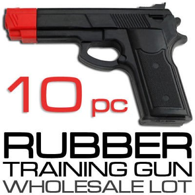 Lot of 10 Rubber Guns Karate Pistol Police Self Defense Disarm Training Practice